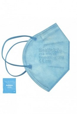 FFP2 mask light blue (10 pieces in box)