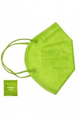 FFP2 mask green (10 pieces in box)