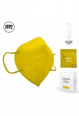 FFP2 mask yellow (10 pieces in box)