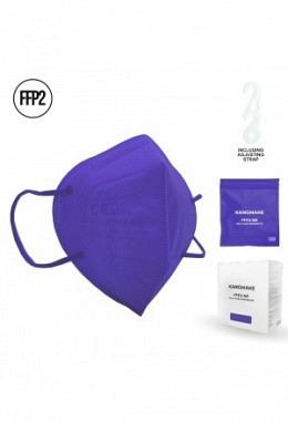 FFP2 Maske violett II (10 Stück im Karton)