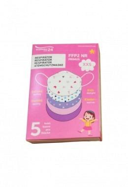 neu: FFP2 Maske XXS mit Mädchenmotiven (5 Stück im Karton)