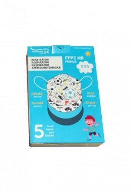FFP2 mask XXS with boys motifs (5 pieces in box)